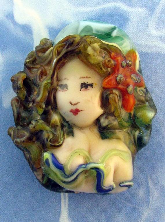 Lampwork Mermaid Focal Bead - Shifka