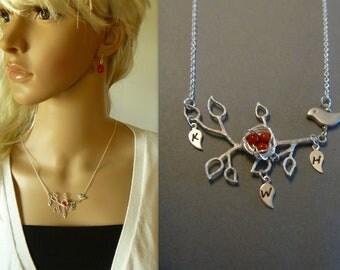 Bird Necklace - Birds Nest Necklace - Bird Nest Jewelry - Mothers Necklace - Mommy Necklace - Mothers Day Gift - Mothers Jewelry