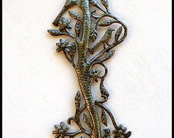 Metal Wall Hanging - Decorative Birds - Haitian Art, Steel Drum Art of Haiti - Metal Wall Art, Handcrafted Metal Art of Haiti -  757