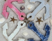 12 Beach Themed Decorative Wooden Gift Tags, Ornaments, Sea Turtles, Star Fish, Anchors