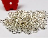 22g 2.25mm ID 3.6mm OD sterling silver 925 jump rings -- open jumprings jewelry findings supplies links