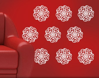 Vinyl Wall Decals: Mandala Doily Art Designs