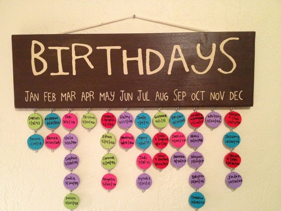 birthday anniversary reminder board by definebliss on etsy