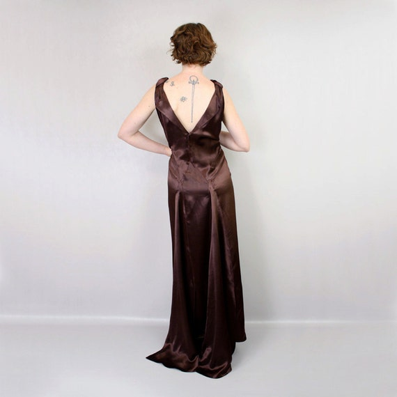 SALE vintage 1930s style gown / liquid satin dress / deco darling