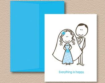 Bride & Groom Note Cards