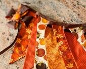 Thanksgiving Banner / Autumn Banner / Fabric Bunting Banner / Garland / Photo Prop
