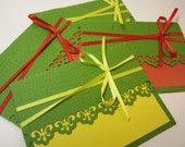 Green, Yellow, Red Gift Card Holders - Set of 4