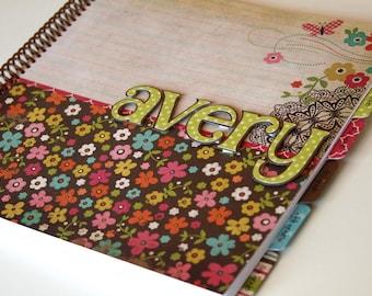 School Memory Book * School Journal * School Days Scrapbook * First Day of School Scrapbook * AVERY design