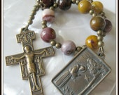 St. Francis Rosary, Single Decade Tenner in Bronze w/ San Damiano Crucifix