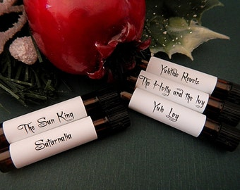 ANCIENT YULE PERFUME Sample Set of 5 vials, Victorian, Gothic, Yule