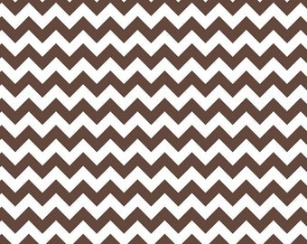 Chevron Brown Small Chevron for Riley Blake, 1/2 yard