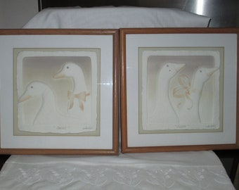 Duck Picture/ Geese Picture/ Framed Art/ Figi Graphics/Wall Decor/ by Gatormom13 JUST REDUCED