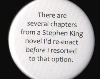 Interesting Stephen King Thought Button