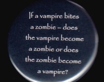 Vampire Zombie Button