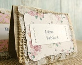 Escort Cards Wedding Reception Place Seating Tags, Unique Rustic Vintage Chic Party Shower Burlap Lace Kraft, Custom Set of 25