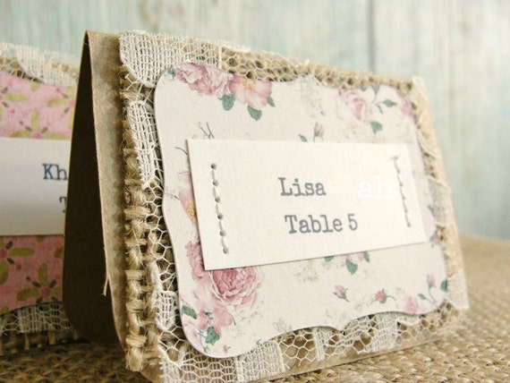 Items Similar To Escort Cards Wedding Reception Place Seating Tags Unique Ru