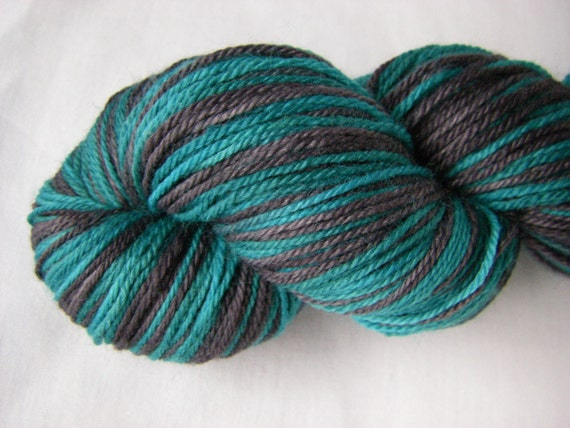 Self Striping Merino Fingering - Gemini Sock - Dead End Friends