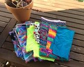 Fabric - Lot of Assorted Abstract Fabric Scraps