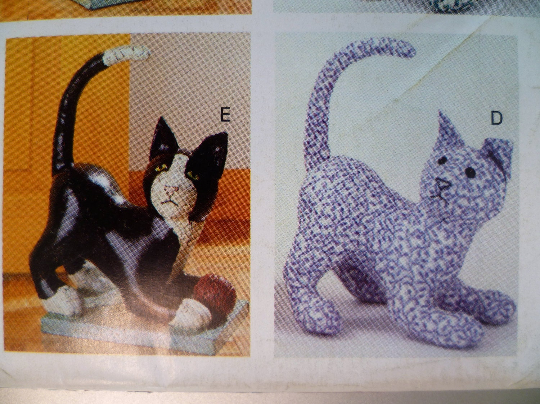 Cat Dog Cow Stuffed Animals Doorstop Sewing Pattern Butterick
