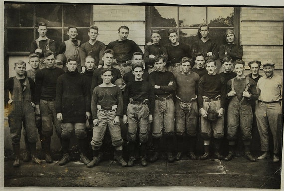 Football Team, Early 1900's,   Paper Ephemera, Art Images, Collectibles, Paper, Photography