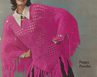 Peppy Poncho Crochet Pattern