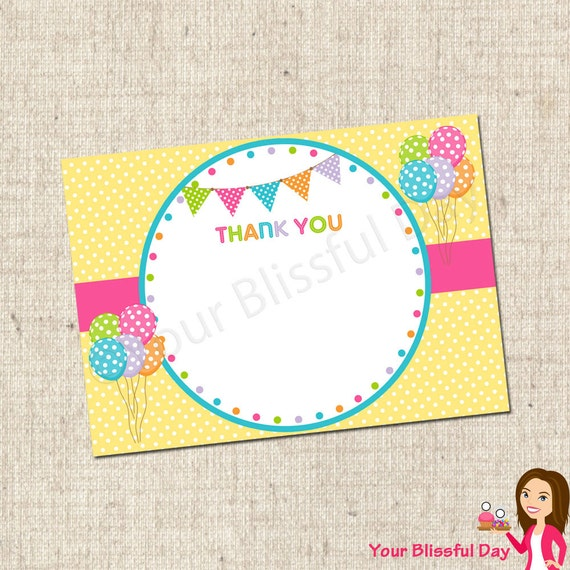 PRINTABLE Polka Dot Party Thank You Cards #571