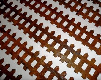 "6 Rusty Metal Fence 12"" x 1 3/8"""