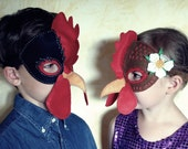 Hen and Rooster Mask PDF Pattern