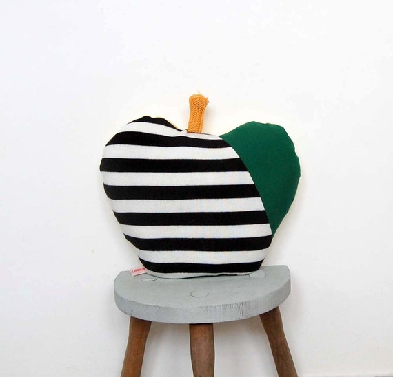 Handmade Upcycled Apple Cushion Pillow