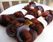 "BFL Wool and Sparkle Combed Top Hand Dyed 4oz ""Iron Man"" BF6"