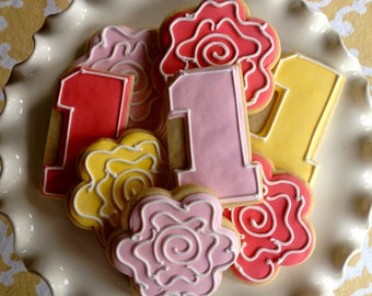 Simple Vintage Rose Sugar Cookie Collection