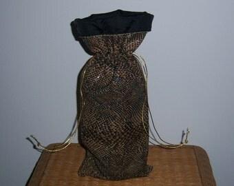 Snakeskin wine bag