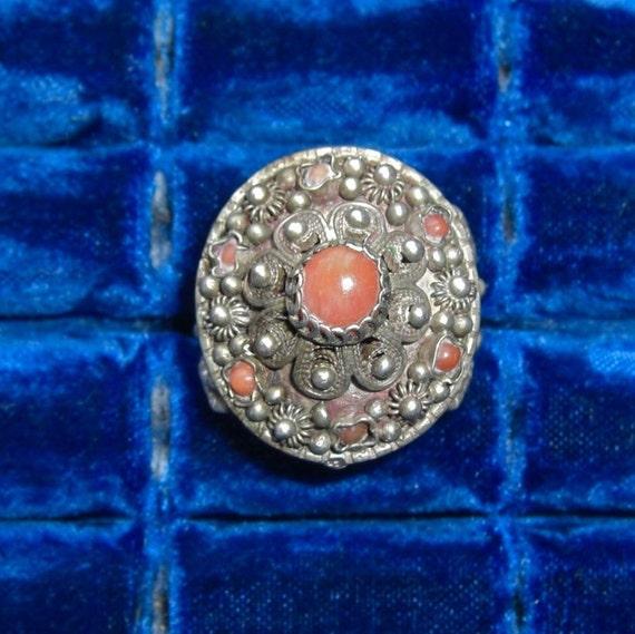 Vintage Handmade Ornate Ring - Adjustable