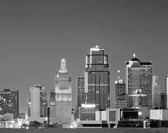 Kansas City Skyline - 10x30 Panoramic Fine Art Photograph