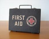 Vintage First Aid Box - Industrial Decor