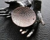 floral patterned copper disc