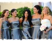 Crystal Bridesmaid Sash, 24 inch Bridesmaid Belt Jeweled, Rhinestone Bridesmaids Sash, Maid of Honor Sash,  Bridal Party Sash, No. 1121S-24