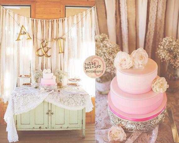 Burlap & Lace Wedding Backdrop by jpurifoy on Etsy
