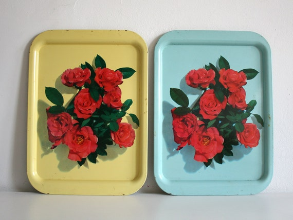 Two Rose Trays