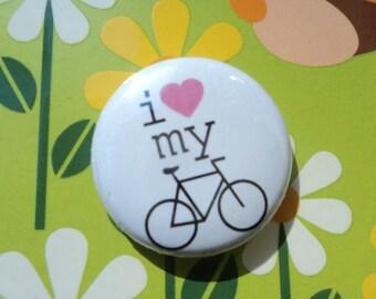 I Love My Bike Button