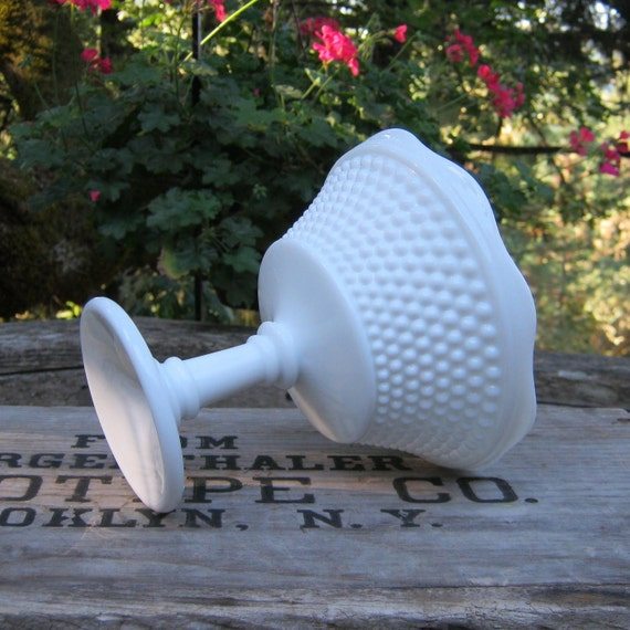 RESERVED for Sherman - Gorgeous Westmoreland Hobnail Milk Glass Compote