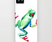 Tree Frog Phone Case - Wildife Painting - Designer iPhone Samsung Case