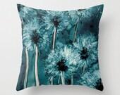 Decorative Pillow Cover - Dandelion Floral Pillow Case - Throw Pillow Cushion Home Decor