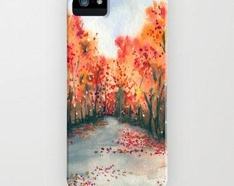Autumn Journey Phone Case - Landscape Painting - Cell Phone Cover - Designer iPhone Samsung Case