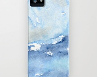 Ocean Wave Phone Case - Watercolor Painting - Tempest - Designer iPhone Samsung Case