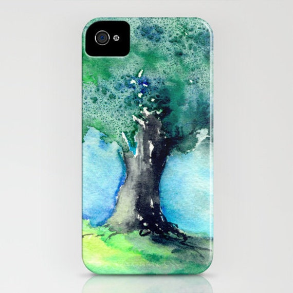 Watercolor Phone Case - Oak Tree Painting - Cell Phone Cover - Designer iPhone Samsung Case