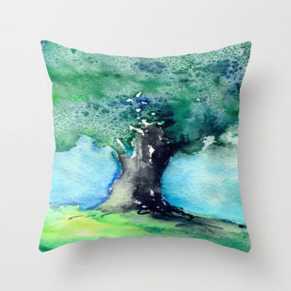 Decorative Pillow Cover - Oak Tree - Woodland Decor - Throw Pillow Cushion - Fine Art Home Decor