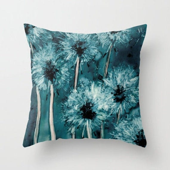 Decorative Pillow Cover - Dandelion Floral Pillow Case - Throw Pillow Cushion Home Decor