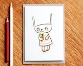 Little Bunny - Easter card, Birthday card,