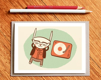 The Connoisseur, Musician Card, Musician Gift, Card For Musician, Music Nerd, Card for Her, Card for Him, Girlfriend Card, Boyfriend Card